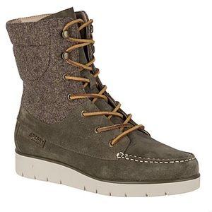 Sperry Azur Hatch Waterproof Suede Lace Up Boots